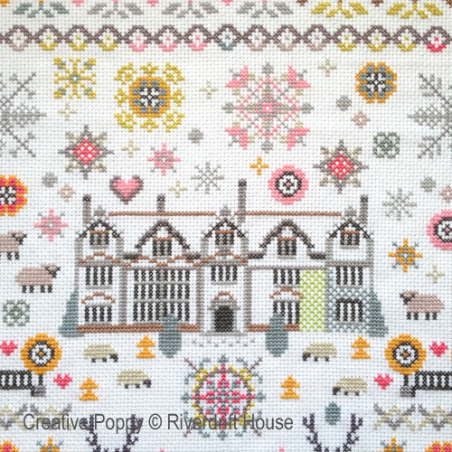 Riverdrift House - Paradise Found Sampler zoom 1 (cross stitch chart)