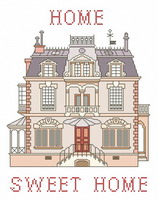 Victorian Home sweet Home - cross stitch pattern - by Monique Bonnin