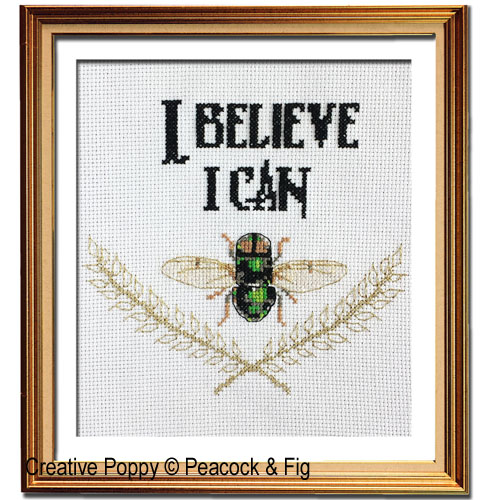 Peacock & Fig - I believe I Can Fly (cross stitch chart)