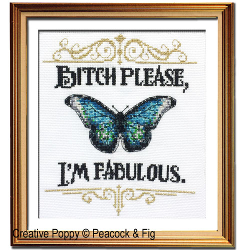 Peacock & Fig - I'm Fabulous (cross stitch chart)