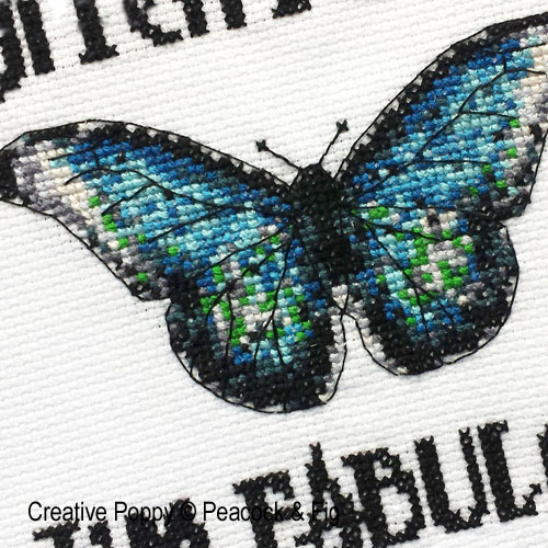 I'm Fabulous cross stitch pattern by Peacock & Fig, zoom 1