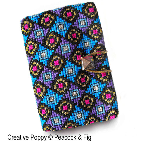 Business card Holder cross stitch pattern by Peacock & Fig