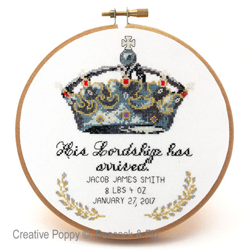 His Lordship cross stitch pattern by Peacock & Fig