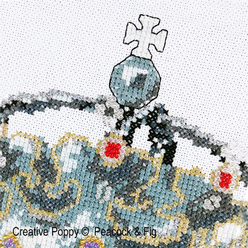 Peacock & Fig - His Lordship zoom 1 (cross stitch chart)
