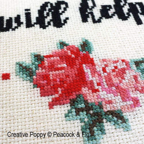 Maybe Wine will help cross stitch pattern by Peacock & Fig, zoom 1