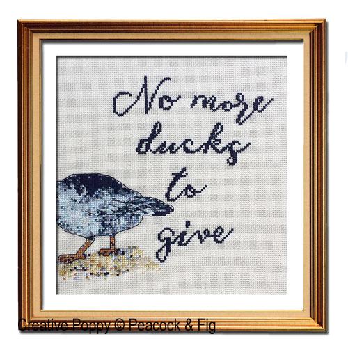 Peacock & Fig - No more Ducks (cross stitch chart)