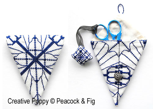 Scissor Case cross stitch pattern by Peacock & Fig
