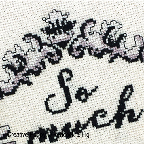 So Much Nope cross stitch pattern by Peacock & Fig, zoom 1