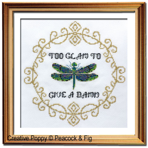 example of cross stitch alphabet in use