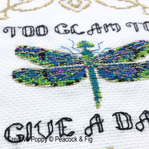 Peacock & Fig - Too Glam to Give a Damn (cross stitch chart)