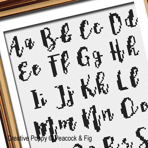 Alphabets & Monograms patterns to cross stitch