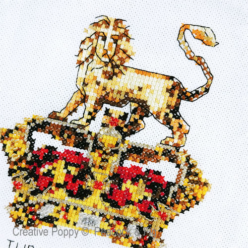 Creating a Dynasty cross stitch pattern by Peacock & Fig, zoom 1
