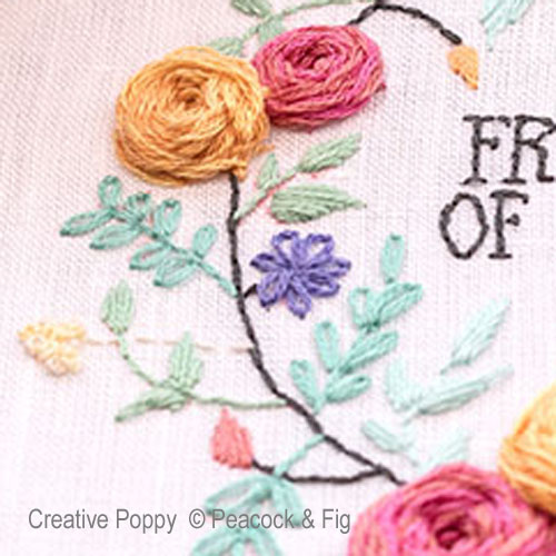 Fresh out of Fuchsias cross stitch pattern by Peacock & Fig