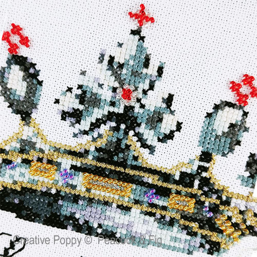 Peacock & Fig - Her Ladyship zoom 1 (cross stitch chart)