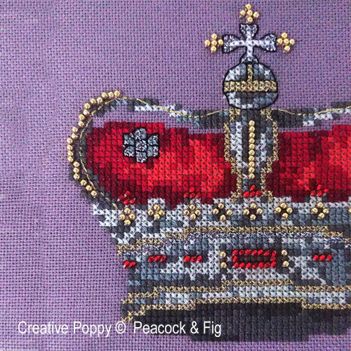 King cross stitch pattern by Peacock & Fig, zoom 1
