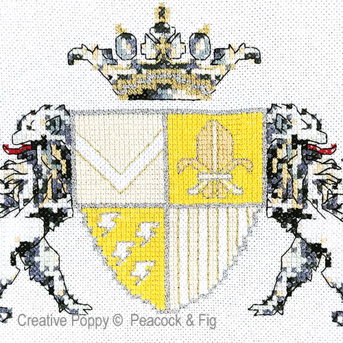 New Heir cross stitch pattern by Peacock & Fig, zoom 1
