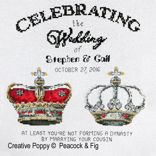 Peacock & Fig - Royal Wedding (cross stitch chart)