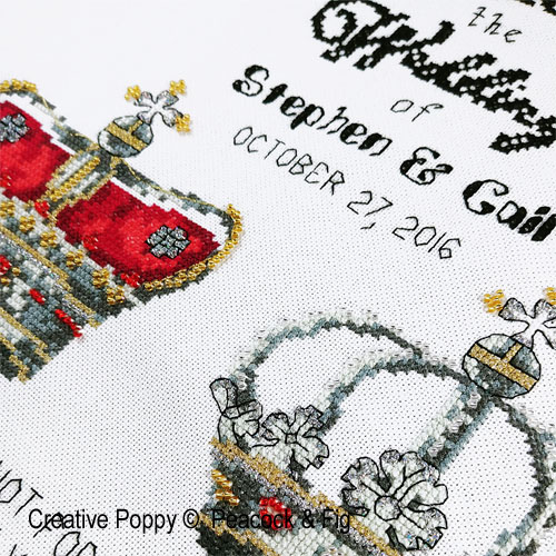 Peacock & Fig - Royal Wedding zoom 1 (cross stitch chart)