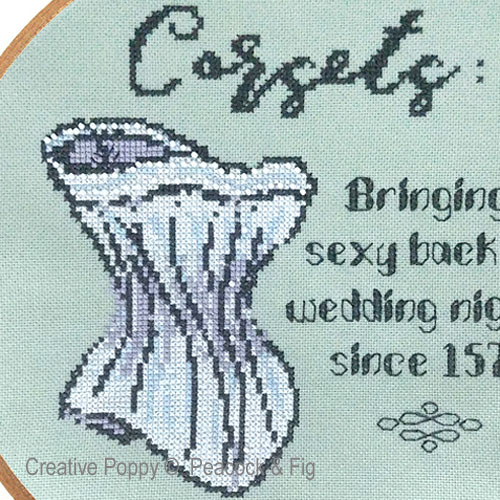 Wedding Nights cross stitch pattern by Peacock & Fig, zoom 1