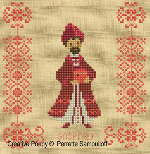 Three kings cross stitch pattern by Perrette Samouiloff, zoom1