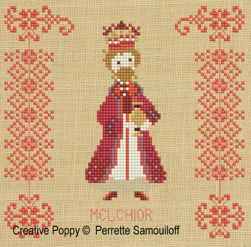 Three kings cross stitch pattern by Perrette Samouiloff, zoom3