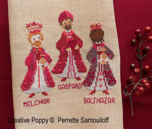 Three kings cross stitch pattern by Perrette Samouiloff