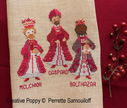Perrette Samouiloff - Three Kings (cross stitch pattern)