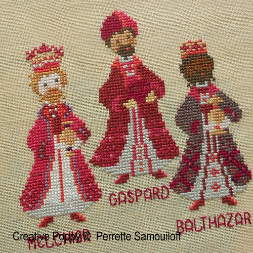 Three kings cross stitch pattern by Perrette Samouiloff, zoom 1