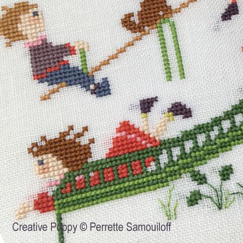 The Big Playground Slide cross stitch pattern by Perrette Samouiloff