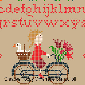 Cheeky Geese cross stitch pattern by Perrette Samouiloff, zoom1