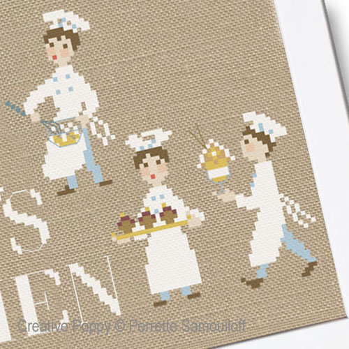 Chef's Kitchen cross stitch pattern by Perrette Samouiloff, zoom3