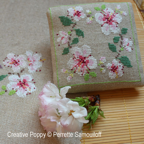 Cherry Blossom Motifs cross stitch pattern by Perrette Samouiloff, zoom1