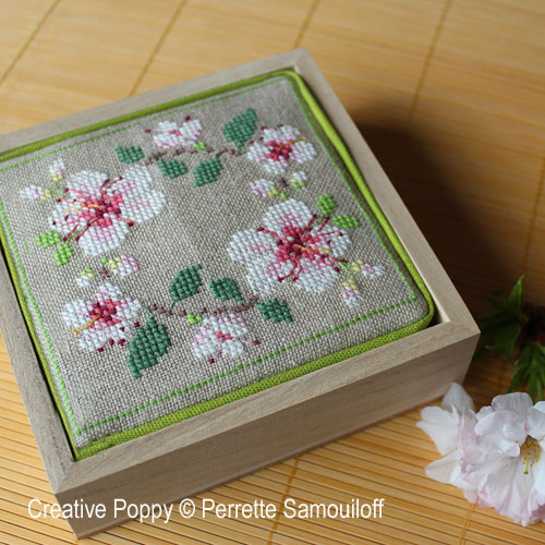 Cherry Blossom Motifs cross stitch pattern by Perrette Samouiloff, zoom 4