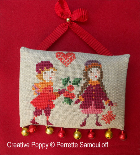Children's Christmas (3 small motifs) cross stitch pattern by Perrette Samouiloff, zoom 1