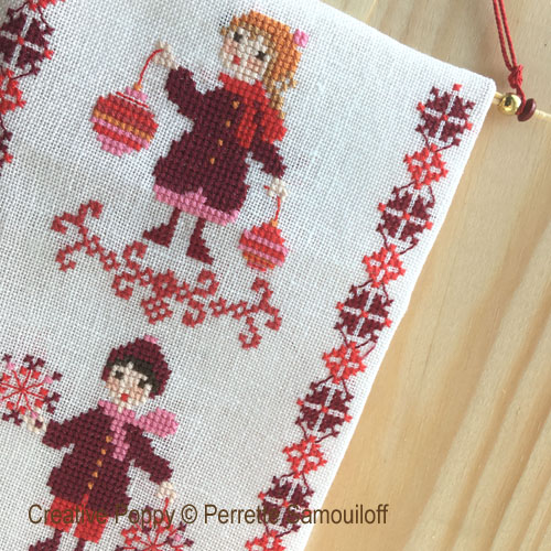 Christmas Bell pull cross stitch pattern by Perrette Samouiloff, zoom 1
