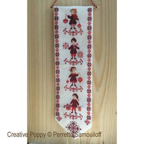 Christmas Bell pull cross stitch pattern by Perrette Samouiloff