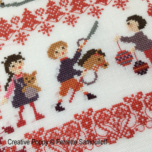 Christmas Toys cross stitch pattern by Perrette Samouiloff, zoom 1