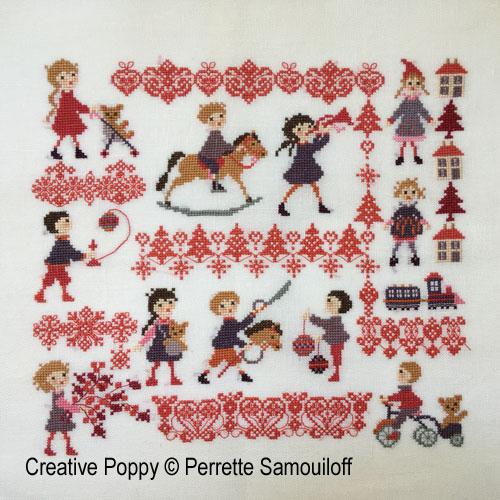 Christmas Toys cross stitch pattern by Perrette Samouiloff