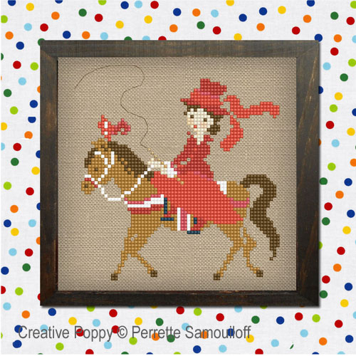 Circus cross stitch pattern by Perrette Samouiloff, zoom 1