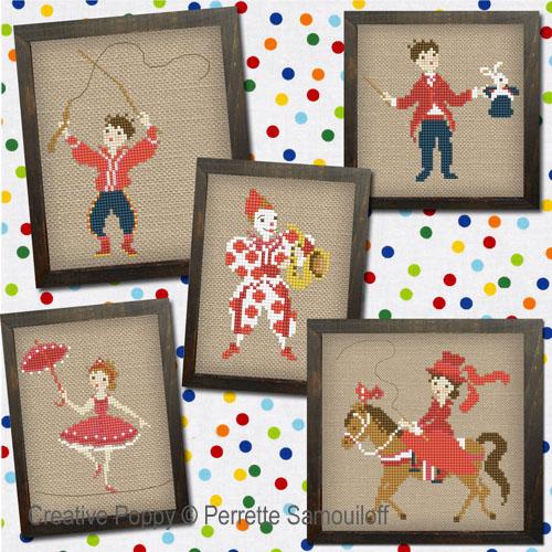Circus cross stitch pattern by Perrette Samouiloff