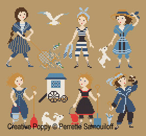 Perrette Samouiloff - 1900's Bathing Costumes (cross stitch pattern chart)