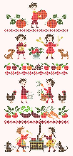 Garden-fresh delights cross stitch pattern by Perrette Samouiolff