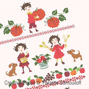 Perrette Samouiloff - Garden-Fresh Delights (cross stitch chart)