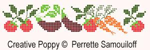 Garden-fresh delights cross stitch pattern by Perrette Samouiolff, zoom 1