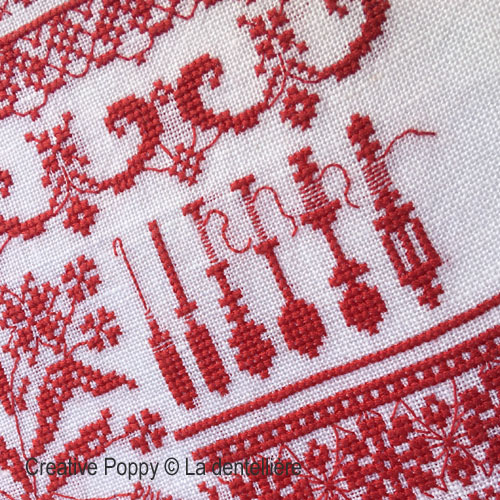 The Lacemaker cross stitch pattern by Perrette Samouiloff, zoom 1