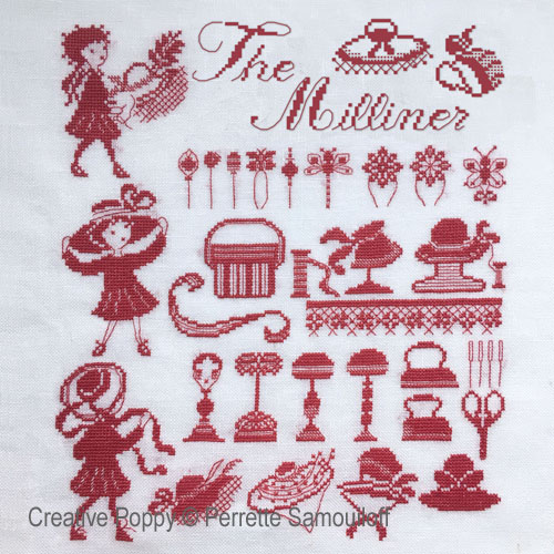 The Milliner cross stitch pattern by Perrette Samouiloff