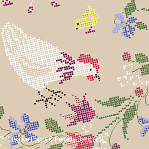 Mother Hens and Chicks cross stitch pattern by Perrette Samouiloff, zoom 1