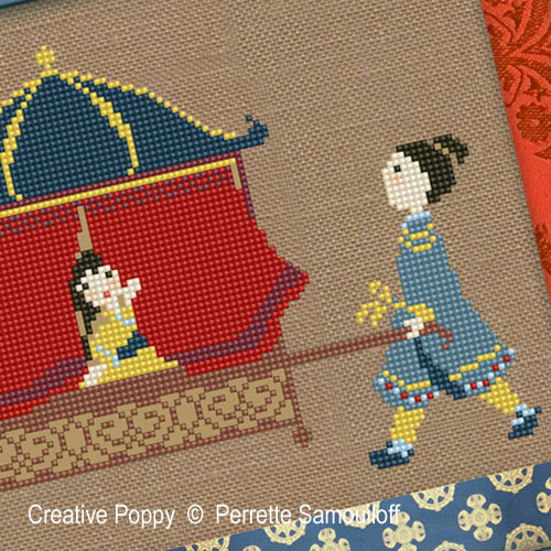 Palanquin cross stitch pattern by Perrette Samouiloff, zoom 1