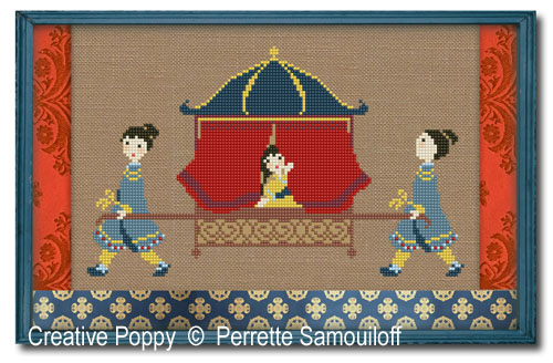 Palanquin cross stitch pattern by Perrette Samouiloff