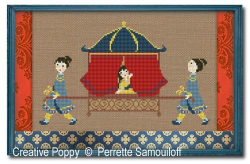 Palanquin cross stitch pattern by Perrette Samouiloff